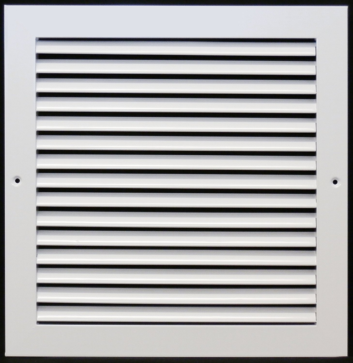 12'' x 12'' Aluminum Return Grille - Easy Air FLow - Linear Bar Grilles [Outer Dimensions: 13.75''w X 13.75''h]