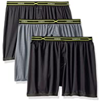 Hanes Men's 3-Pack X-Temp Performance Cool Checker Polyester Boxers