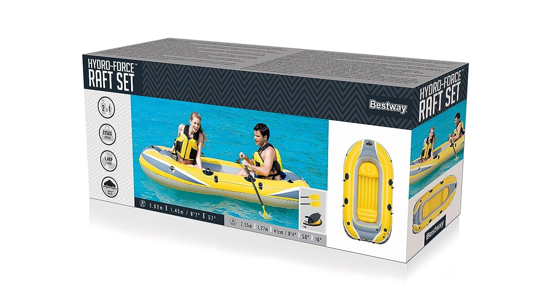 Ruder- & Paddelboote Bestway Hydro-Force Raft Set Boot mit Blasebalg und 2 Rudern