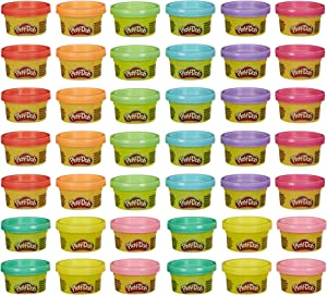 Play-Doh Handout 42-Pack of 1-Ounce Non-Toxic Modeling Compound for Kid Party Favors, Trick or Treat, Classroom Prizes, School Supplies, Assorted Colors (Amazon Exclusive)