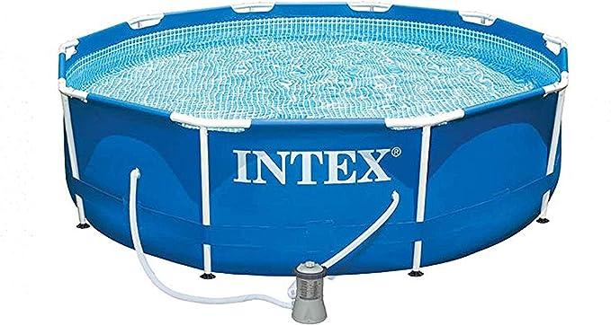 Intex juego de alberca con marco de metal de 12 pies con bomba de ...
