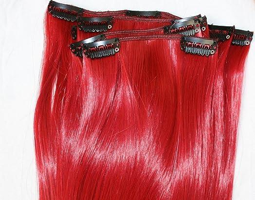 6 x 20 bright red straight intense ruby full head clip in hair 6 x 20quot bright red straight intense ruby full head clip in hair extensions pmusecretfo Gallery