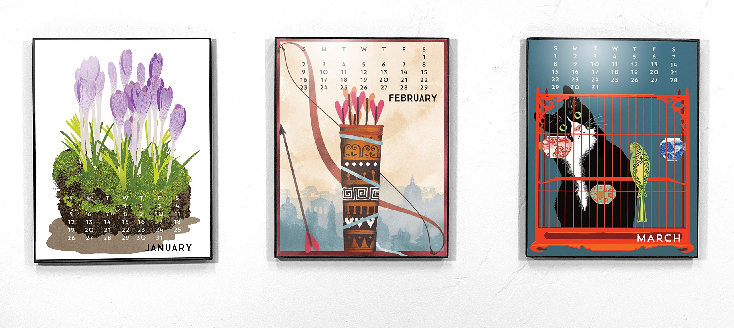Linnea Design 2020 Poster Wall Calendar 11 X 14 Inches Art by Johanna Riley by Linnea Design