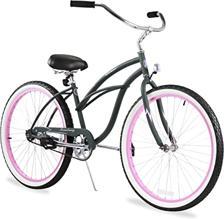 side facing firmstrong beach cruiser women's hybrid bike