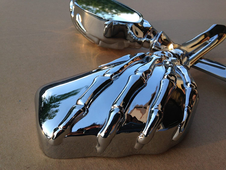 NBX Hand Skull Mirror Harley Heritage Springer Sportster Dyna Glide Softail V Rod C