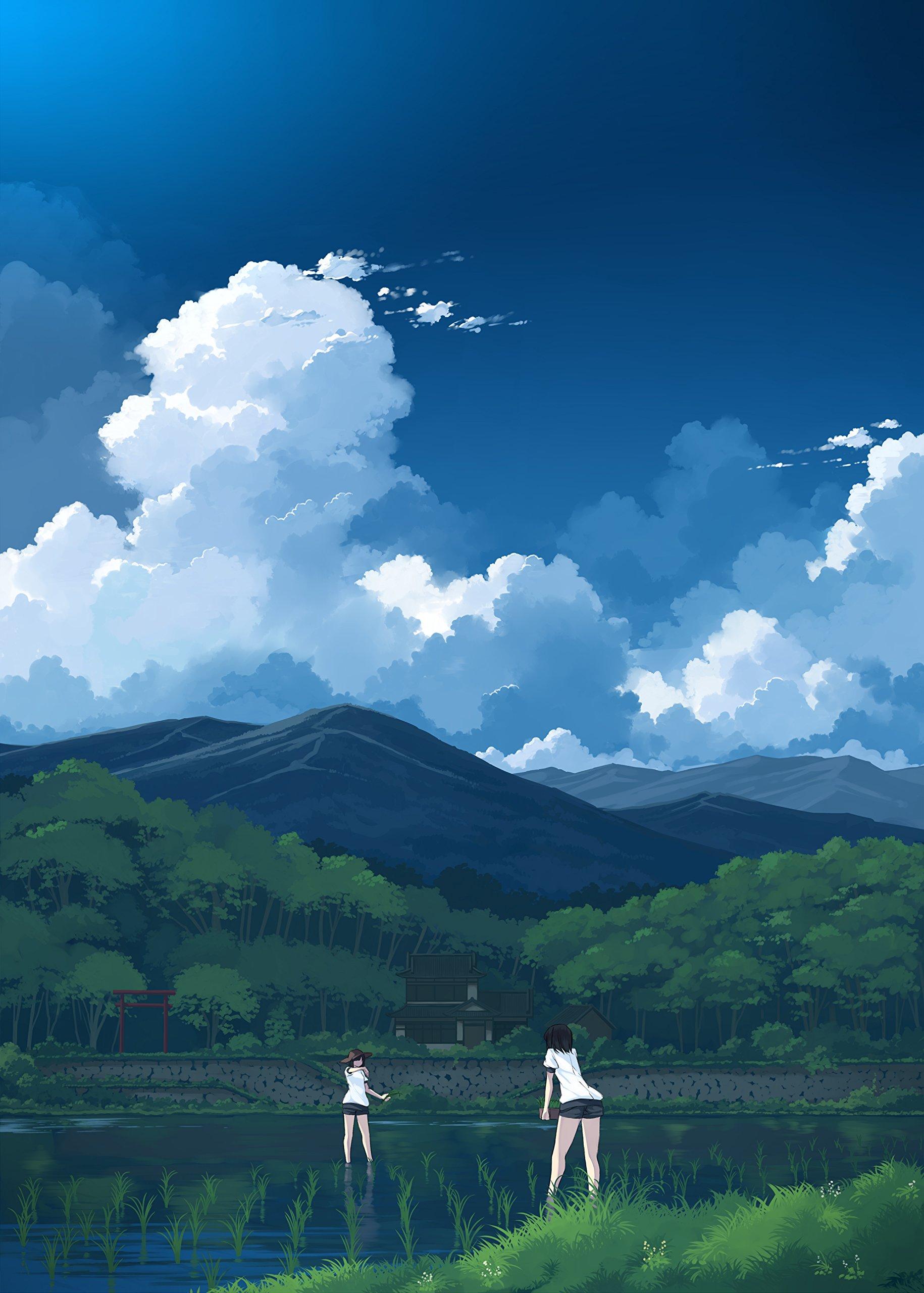 Saiphotoshopで描く 背景イラストテクニック 人物のいる魅力的な風景を