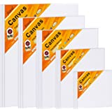 Canvas Boards for Painting Canvas Panels Variety Pack, 4x4, 5x7, 8x10, 9x12, 11x14 Inches, 18 Pack 3mm Thickness Canvas Value