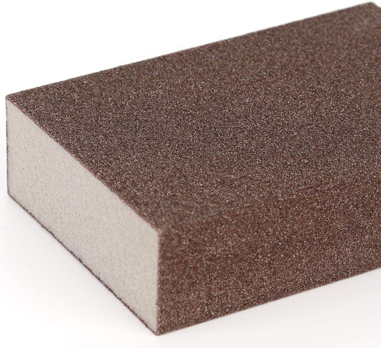 fin LUTER Lot de 4 /éponges//blocs de pon/çage pour surfaces humides et s/èches de 240 /à 320 pon/çage