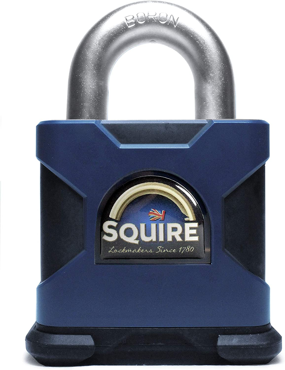 Henry Squire HSQSS80CS SS80S Stronghold Solid Steel Padlock 80mm Closed Shackle