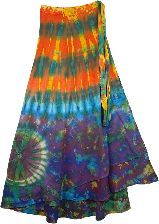 "TLB - Hotice Cotton Wrap Around Skirt - L: 37"" ; W: Wrap Around Free"