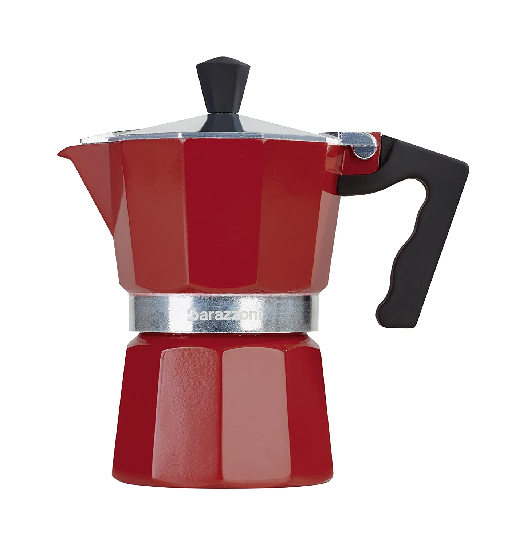 Barazzoni der Farbige Kaffeebereiter 3 Tassen, Aluminium, Rot, 8.7 x 15.1 x 15.7 cm 83000550330