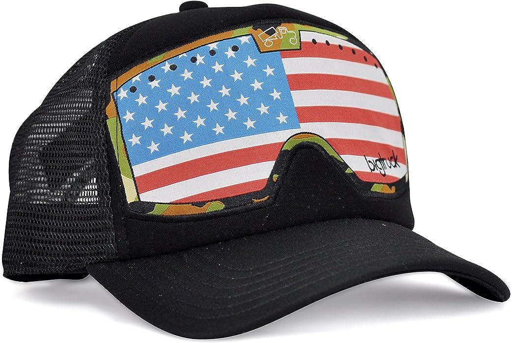 04d20ec48e6ae bigtruck Brand Hat Original G Line Goggle Black Flag