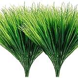 AGEOMET 14 peças de plantas artificiais de plástico sintético, arbustos de arbustos de verde-arbusto resistentes a UV, planta