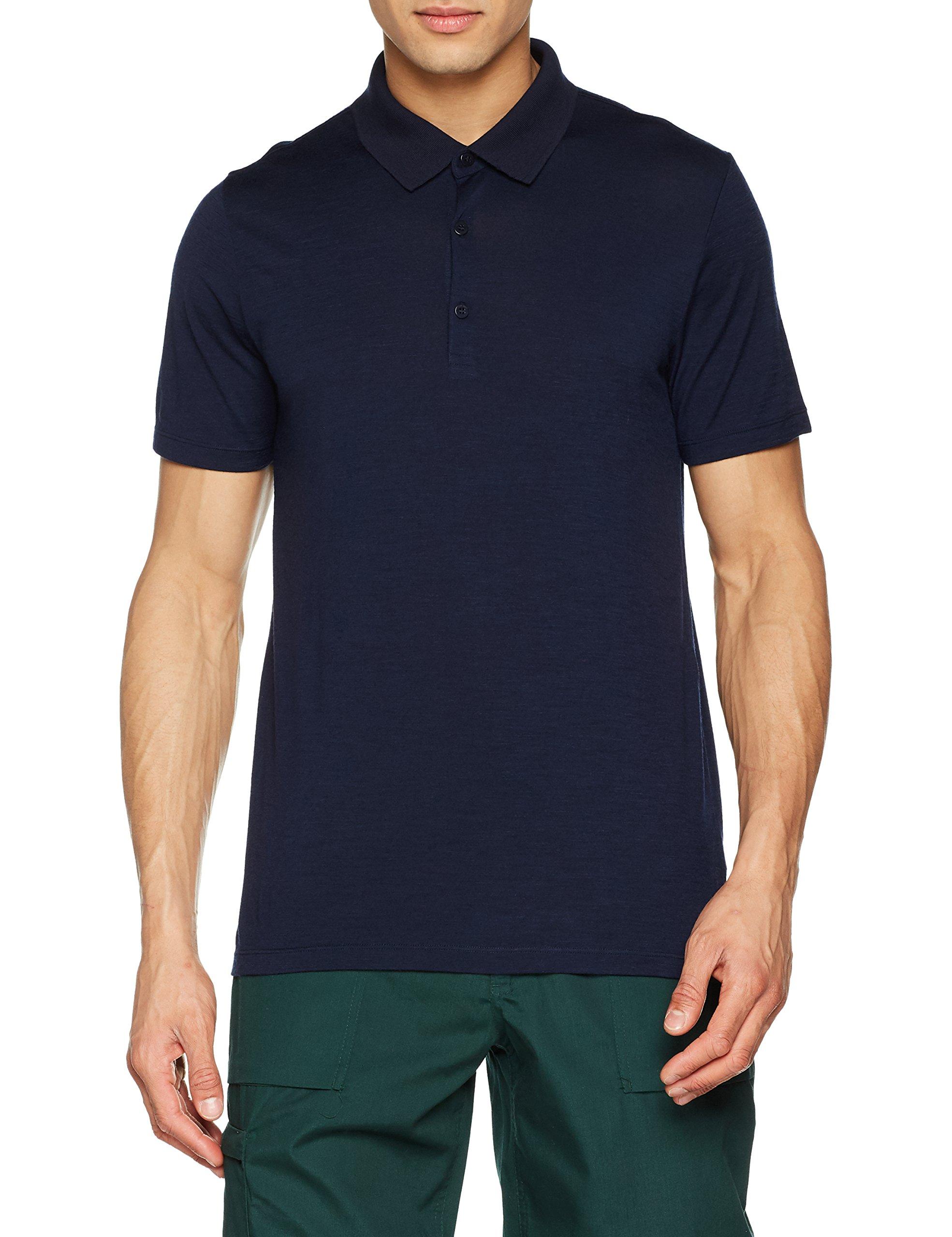 Icebreaker Merino Men's Tech Lite Short Sleeve Polo, Midnight Navy, XX-Large