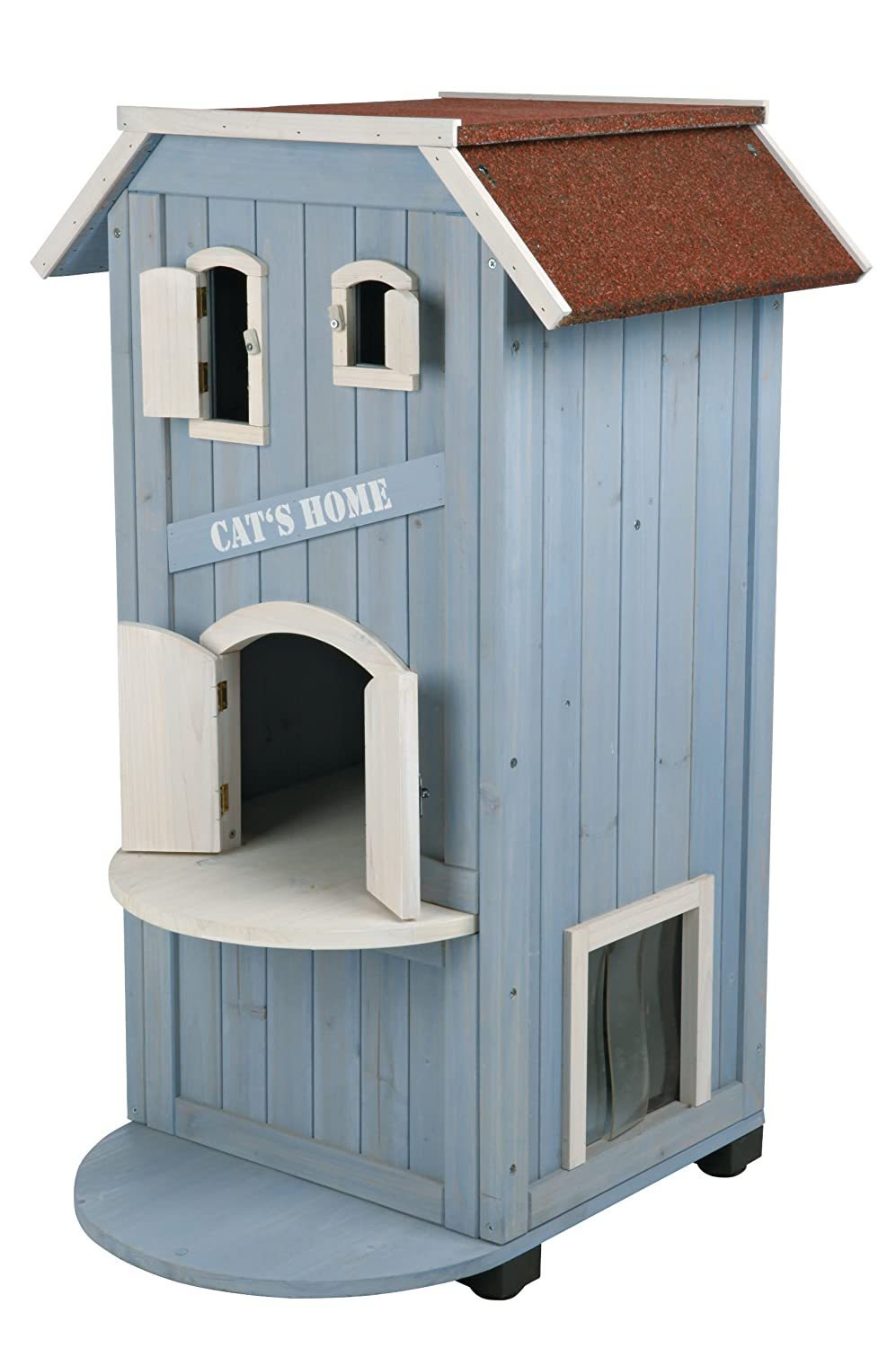 Wooden Outdoor Cat Home