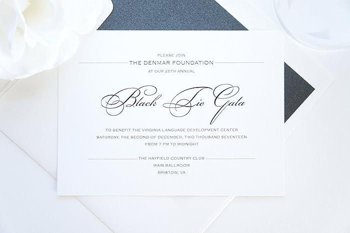 amazon com black tie gala invitations sample set handmade