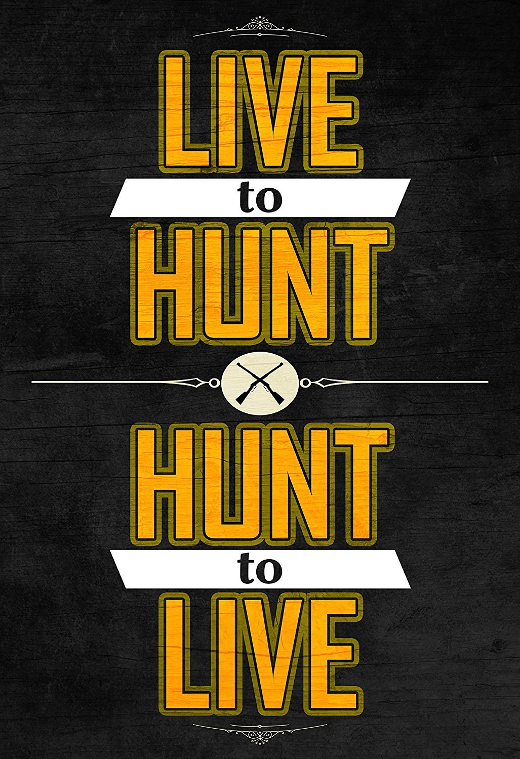 Live to Huntハントto Live Printライフルガン画像ハンターユーモアHuntingポスター 13x19 Inch ICANDY-MP2123-13x19 13x19 Inch  B01KIVVUOU