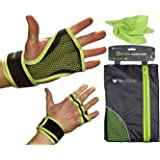 Cross Training & Weightlifting Gloves With Wrist Support For Women & Men | Anti Slip Workout Lifting Gloves With Padded Grip | Best For Crossfit - Deadlift - Pullups And Fitness Exercise | FREE Light Weight Gym Towel