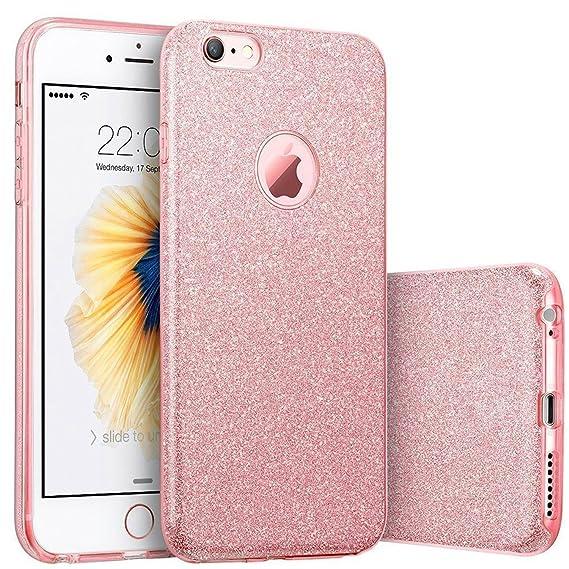 amazon com iphone 6s plus case, imikoko™ fashion luxury protectiveiphone 6s plus case, imikoko™ fashion luxury protective hybrid beauty crystal rhinestone sparkle glitter