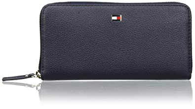 Tommy Hilfiger Womens Basic Leather Large Za Wallet Wallet Blue (Tommy Navy)