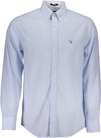 Gant 1701.332120 Camisa con Las Mangas Largas Hombre Azzurro 441 2XL: Amazon.es: Ropa y accesorios