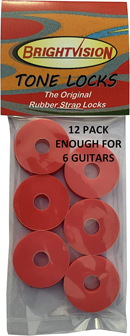 Grolsch Style-Classic and Reliable Twelve WHITE Rubber Guitar Strap Locks