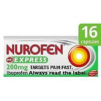Nurofen Express Ibuprofen Liquid Capsules, 200 mg, Pack of 16