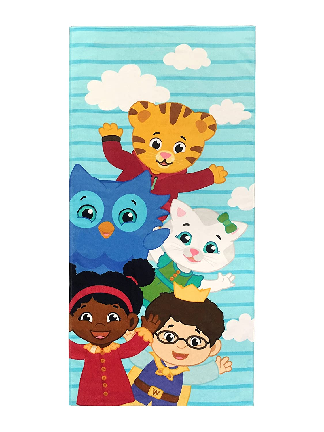 Jay Franco Daniel Tiger Neighbors Kids Bath/Pool/Beach Towel - Super Soft & Absorbent Fade Resistant Cotton Towel, Measures 28 inch x 58 inch (Official Daniel Tiger Product)