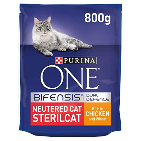 Purina ONE - Pollo seco para gatos 800 g, 4 unidades (3,2 kg ...