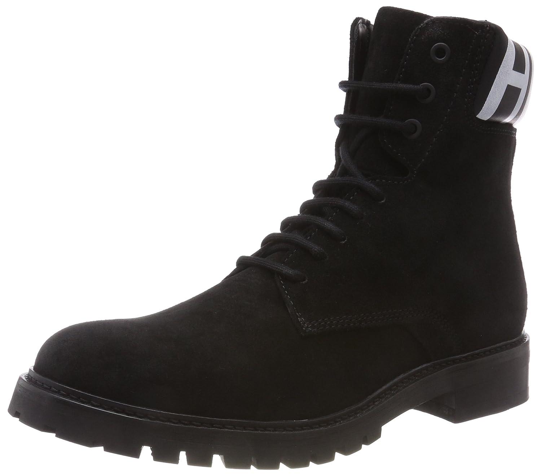 HUGO Herren Explore_Halb_wxsd Combat Boots Schwarz (Black 001)