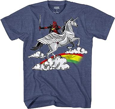 Deadpool - Camiseta para Hombre con diseño de Unicornio de los Vengadores X-Men: Amazon.es: Ropa y accesorios