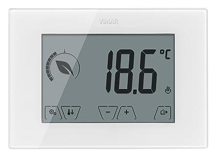 Vimar - Termostato tactil bateria blanco