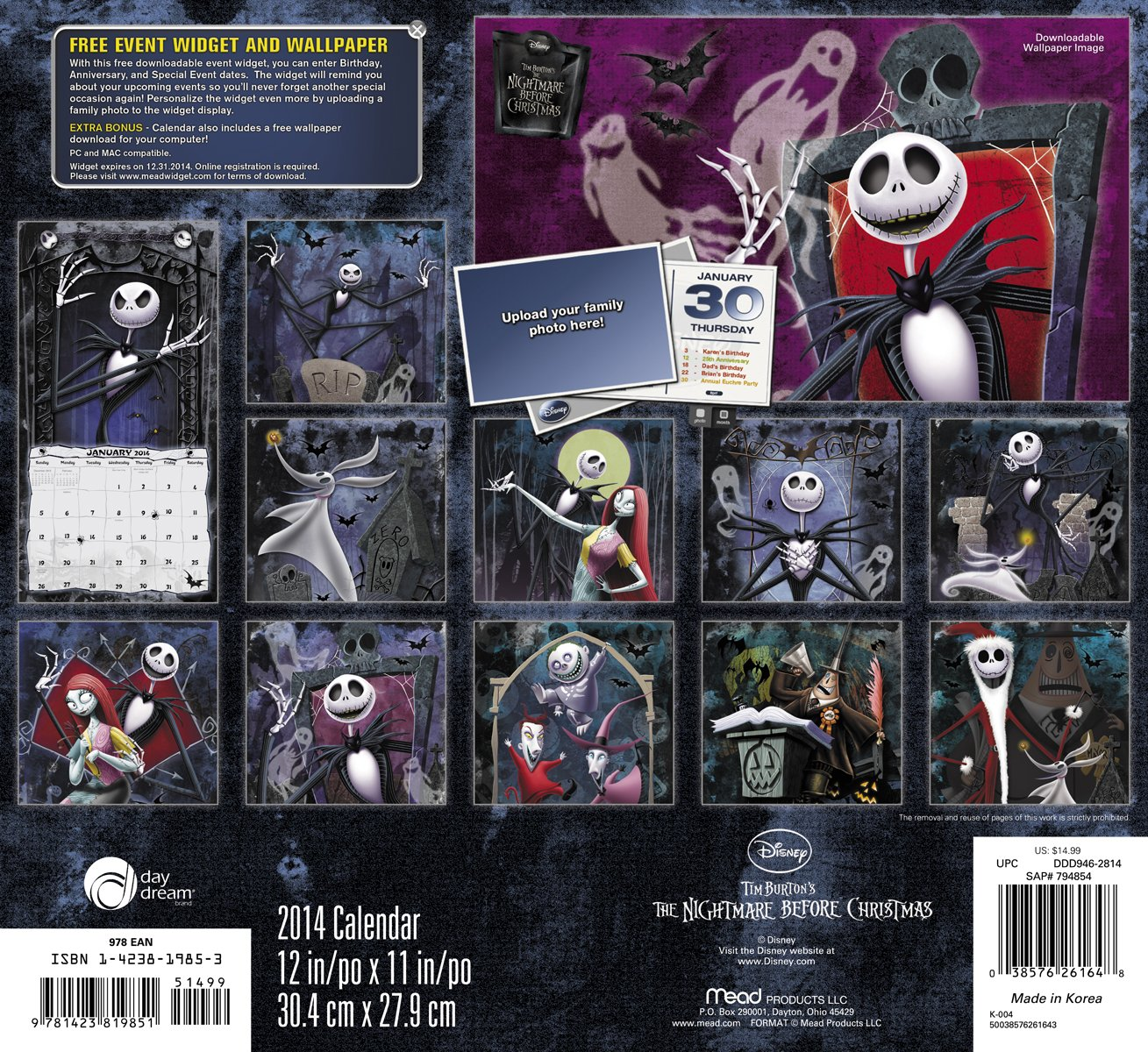 Disney the Nightmare Before Christmas Calendar: Amazon.co.uk: Books