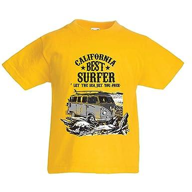 lepni.me Camiseta para Niño/Niña Mejor Surfista de California - Vacaciones de Verano en la Playa, Estilo de Surf, Van, Diseño de Viajes: Amazon.es: Ropa y ...