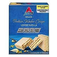 Atkins Protein Wafer Crisps, Lemon Vanilla, Keto Friendly, 5 Count
