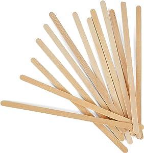 Kofies Disposable Wooden Beverage Coffee Stirrers Sticks - Biodegradable Eco-Friendly Round-End Birchwood 5.5 Inches Large Stir Sticks - Pack of 500 Stirring Sticks