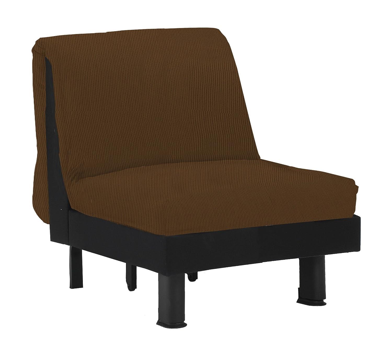 13Casa - Lillo C3 - Poltrona letto. Dim: 110x95x85 h cm. Col: Marrone. Mat: Metallo, Truciolare, Cotone. F00040803127