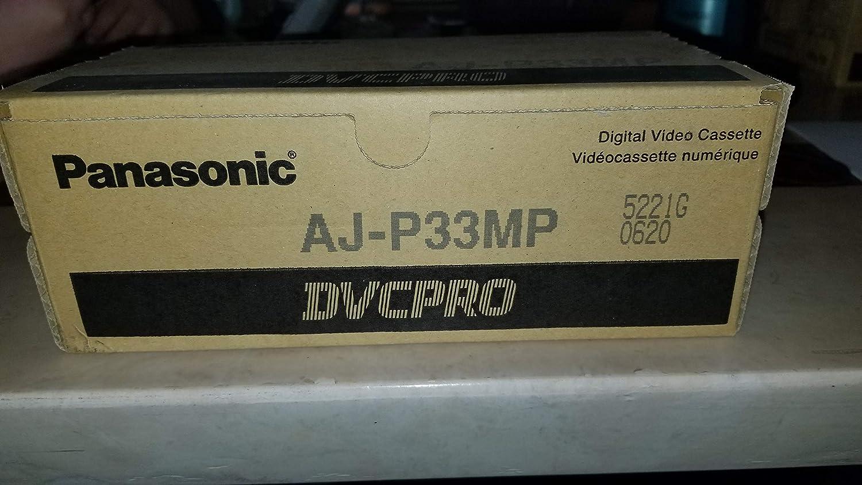 Tape Box of 10 Panasonic AJ-P33MP DVCPRO Digital Video Cassette