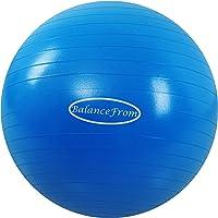BalanceFrom - Pelota de Ejercicio antigolpes y Antideslizante, Pelota de Yoga, con Bomba rápida, Capacidad de 907.18 kg, antiexplosión y Pelota para Parto