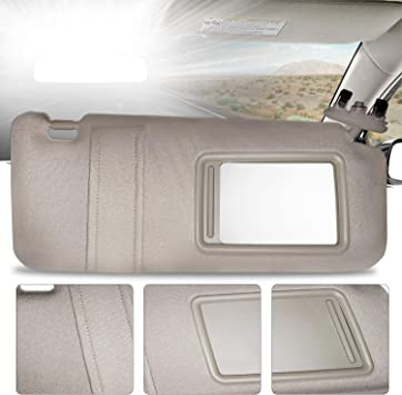 Make Auto Parts Manufacturing Passenger Side Windshield Sun Visor for Toyota Camry with Sunroof and Light 2007 2008 2009 2010 2011