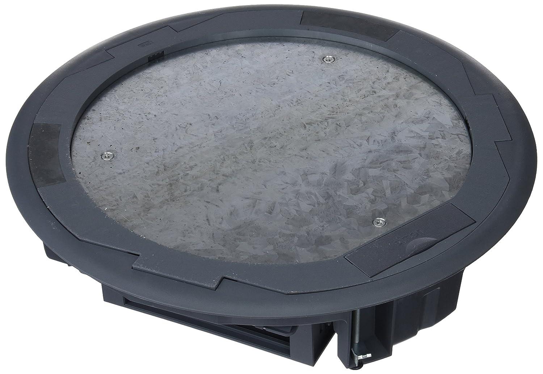 Simon SF300C/1 - Caja Suelo Cima Circular Con Embellecedor Inox Profundidad 65Mm 3 Portamec: Amazon.es: Bricolaje y herramientas