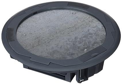 Simon SF300C/1 - Caja Suelo Cima Circular Con Embellecedor Inox Profundidad 65Mm 3 Portamec