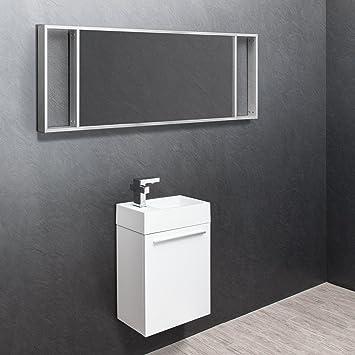 Savisto Venice Badezimmer Mobel Metall Holz Weiss Basin Vanity