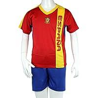España WM 2014, de fútbol camiseta para niños-con pantalones y malla-inserciones de colour, colour rojo/azul
