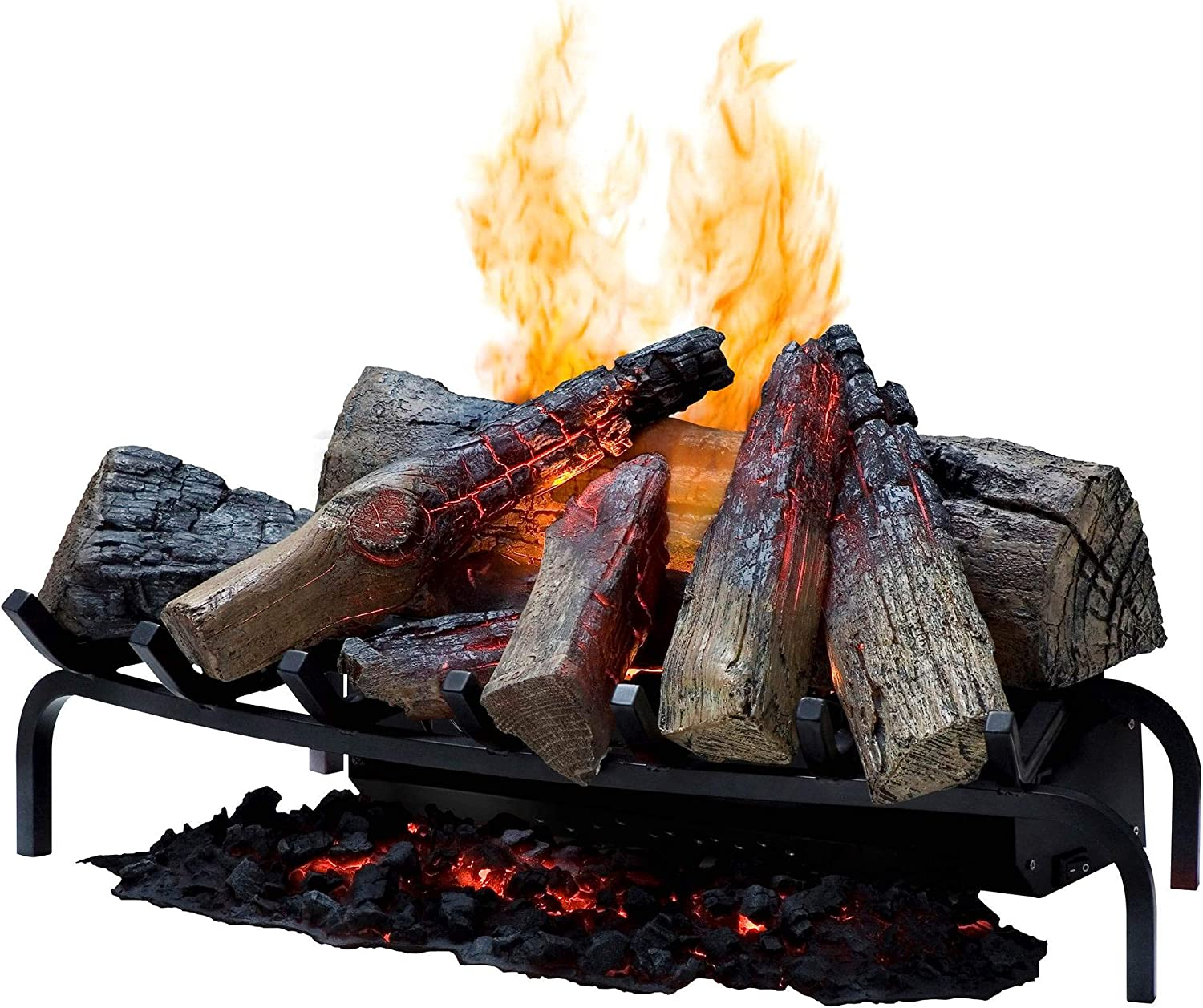 Dimplex Dlgm29 Opti Myst Open Hearth Fireplace Insert With Faux Logs Bed Alabaster Home Improvement