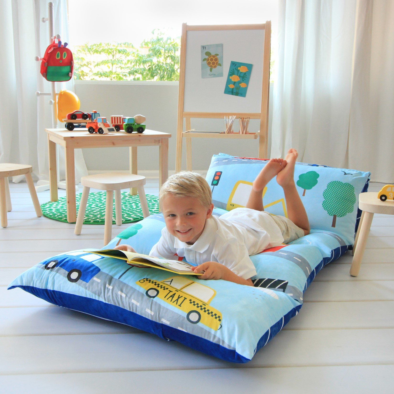 Amazon.com : Kid\'s Floor Pillow Bed Cover - Use as Nap Mat, Portable ...