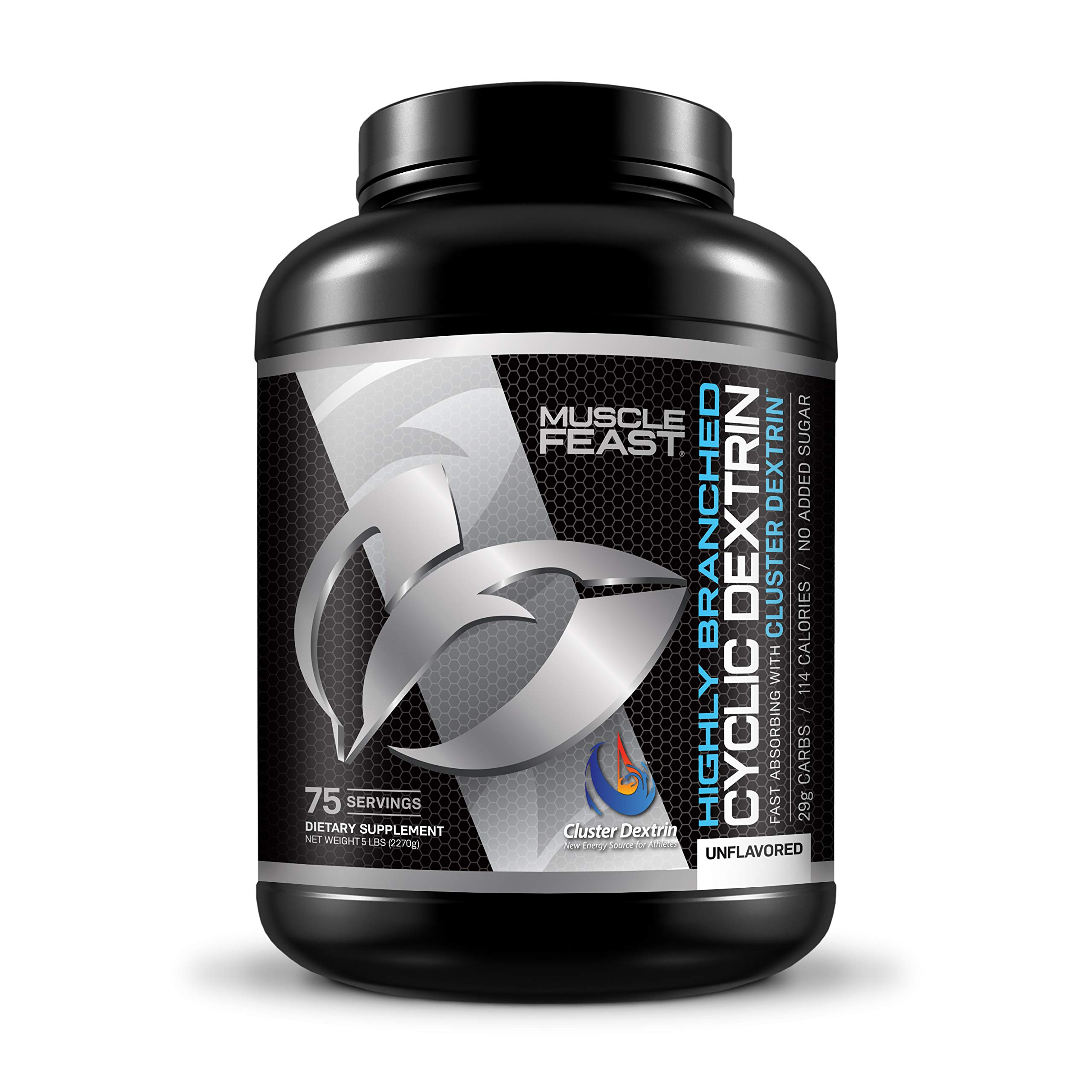 Highly Branched Cyclic Dextrin | Muscle Feast | Super Carb (5lbs, 2270 Grams)