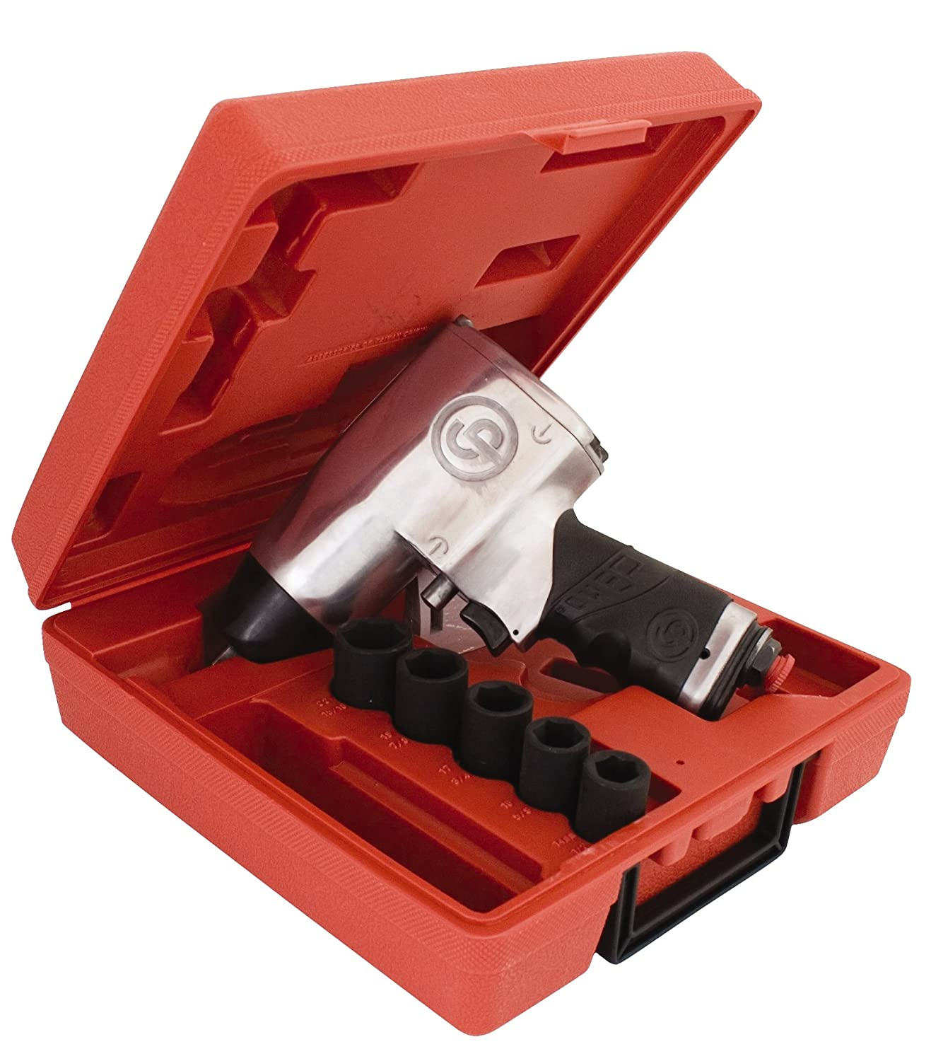 Chicago Pneumatic CP734H 1//2-Inch Heavy Duty Air Impact Wrench Kit
