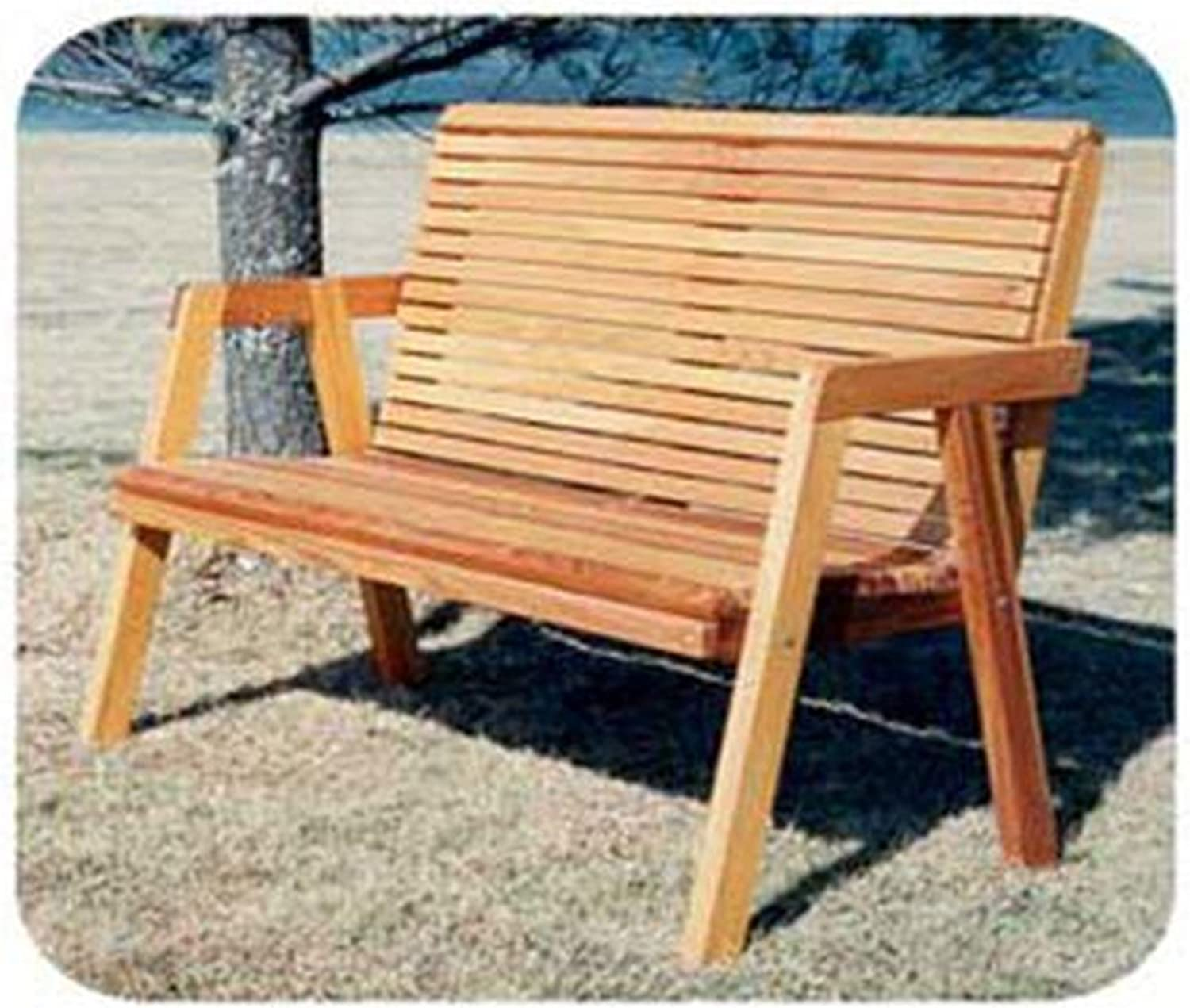 Woodworking Project Paper Plan To Build Simple Patio Bench Outdoor Furniture Woodworking Project Plans Amazon Com