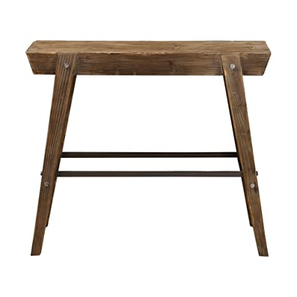 Superieur My Swanky Home Rustic Industrial Primitive Wood Slab Console Table |  Minimalist Geometric Iron